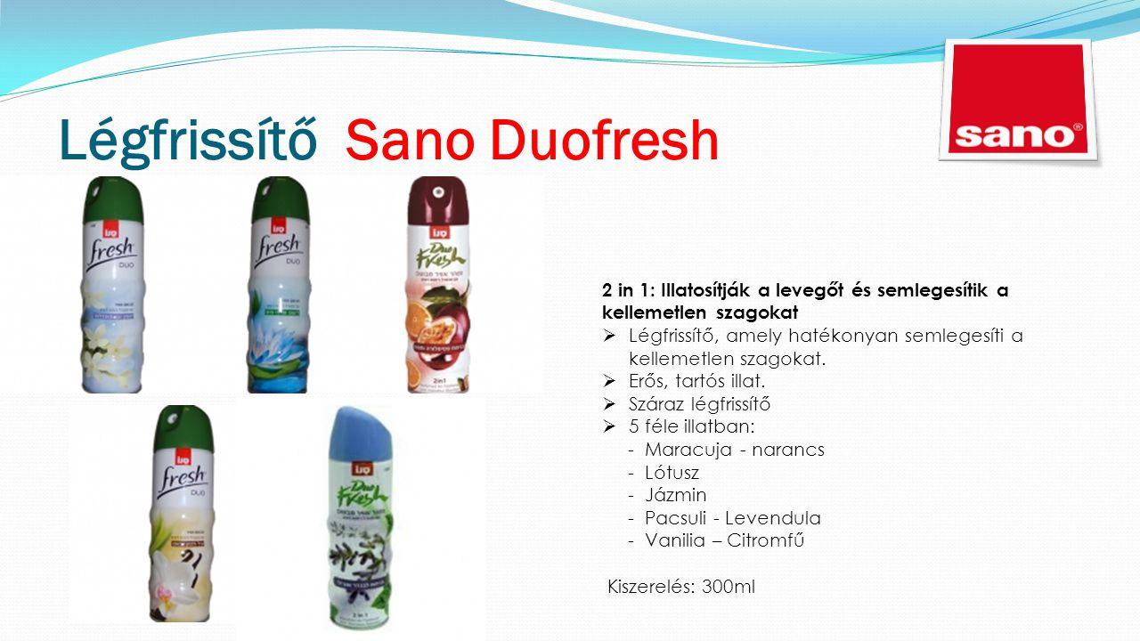 Légfrissítő Sano Duofresh 2 in 1: Illatosítják a levegőt és semlegesítik a kellemetlen szagokat  Légfrissítő, amely hatékonyan semlegesíti a kellemetlen szagokat.