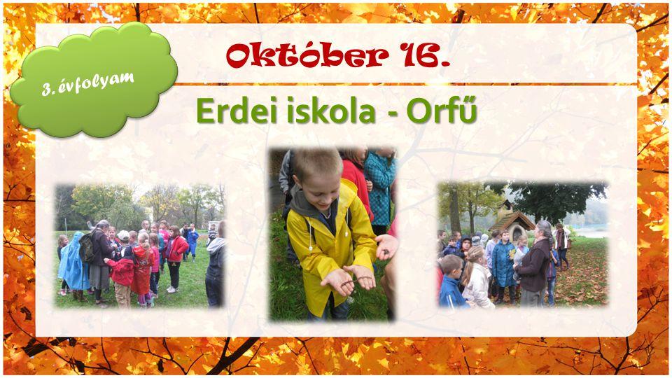 Október 16. Erdei iskola - Orfű 3. évfolyam