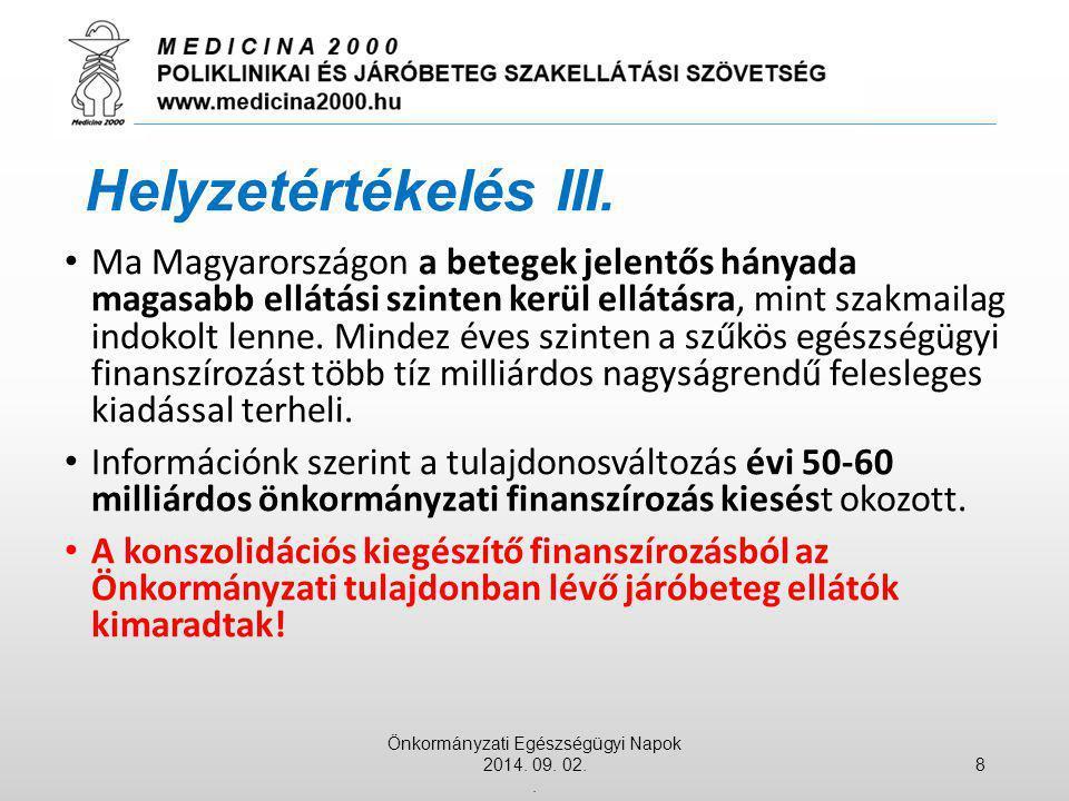 Ma Magyarországon a betegek jelentős hányada magasabb ellátási szinten kerül ellátásra, mint szakmailag indokolt lenne. Mindez éves szinten a szűkös e