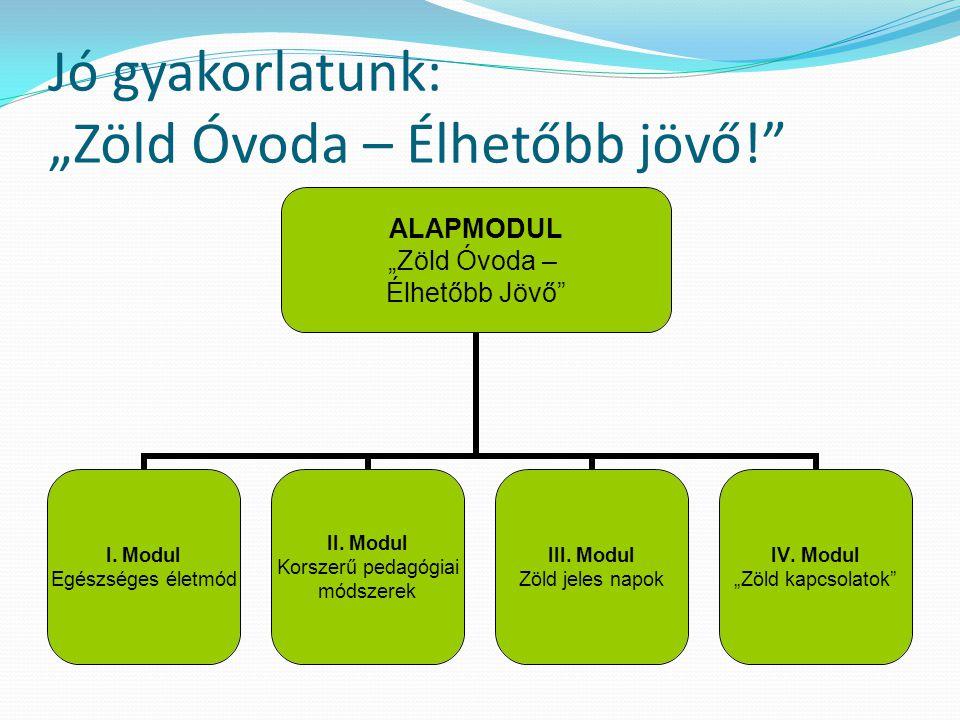"""Jó gyakorlatunk: """"Zöld Óvoda – Élhetőbb jövő! ALAPMODUL """"Zöld Óvoda – Élhetőbb Jövő I."""