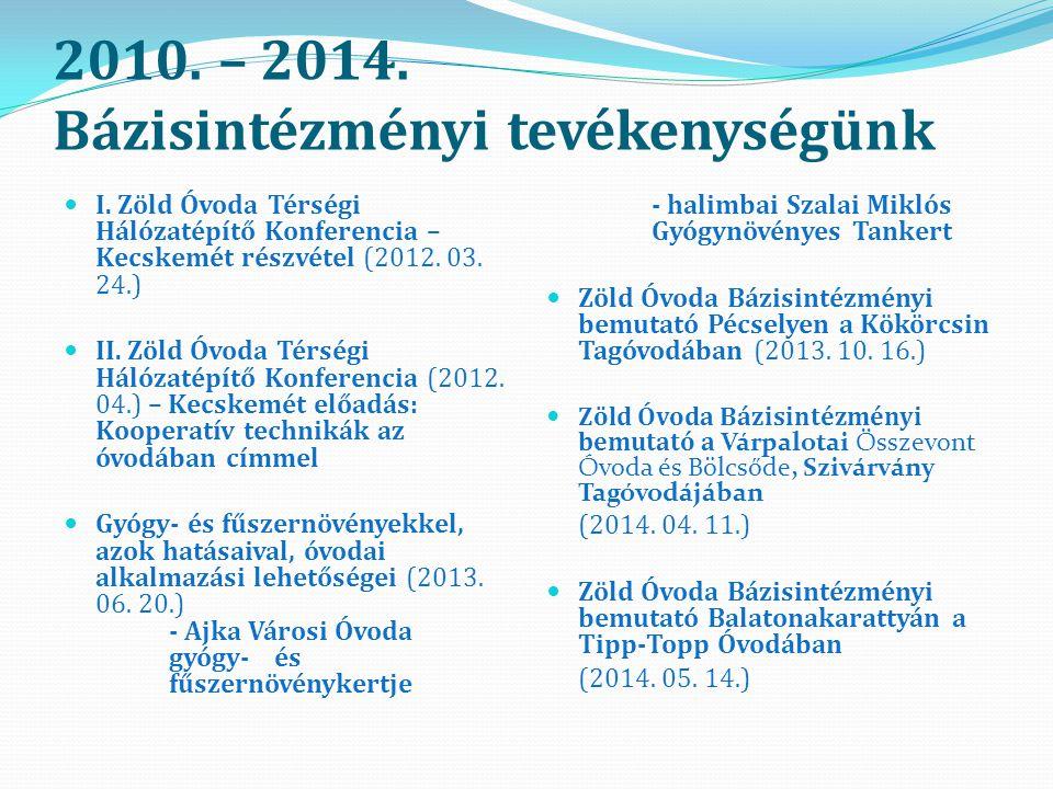 2010.– 2014. Bázisintézményi tevékenységünk I.