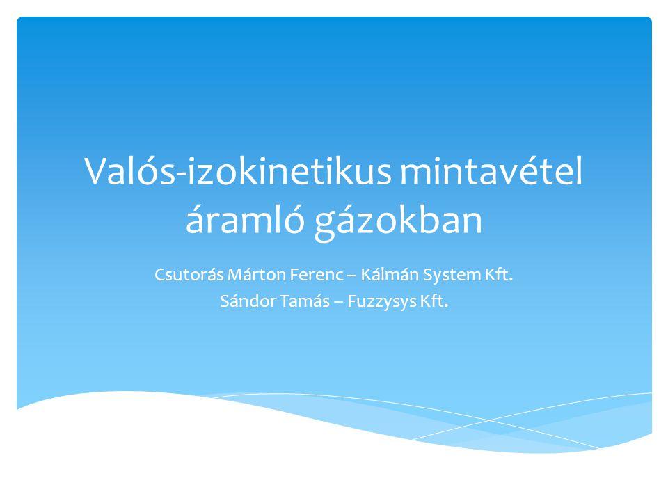 Valós-izokinetikus mintavétel áramló gázokban Csutorás Márton Ferenc – Kálmán System Kft. Sándor Tamás – Fuzzysys Kft.
