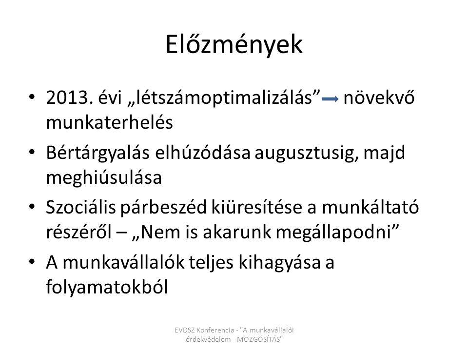 Előzmények 2013.