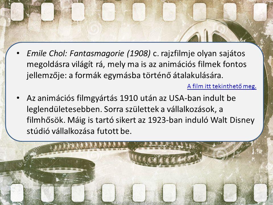 Emile Chol: Fantasmagorie (1908) c. rajzfilmje olyan sajátos megoldásra világít rá, mely ma is az animációs filmek fontos jellemzője: a formák egymásb