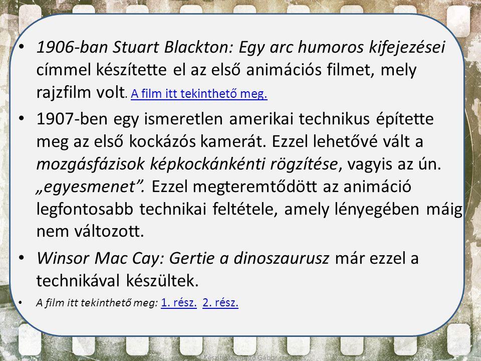 1906-ban Stuart Blackton: Egy arc humoros kifejezései címmel készítette el az első animációs filmet, mely rajzfilm volt. A film itt tekinthető meg. A
