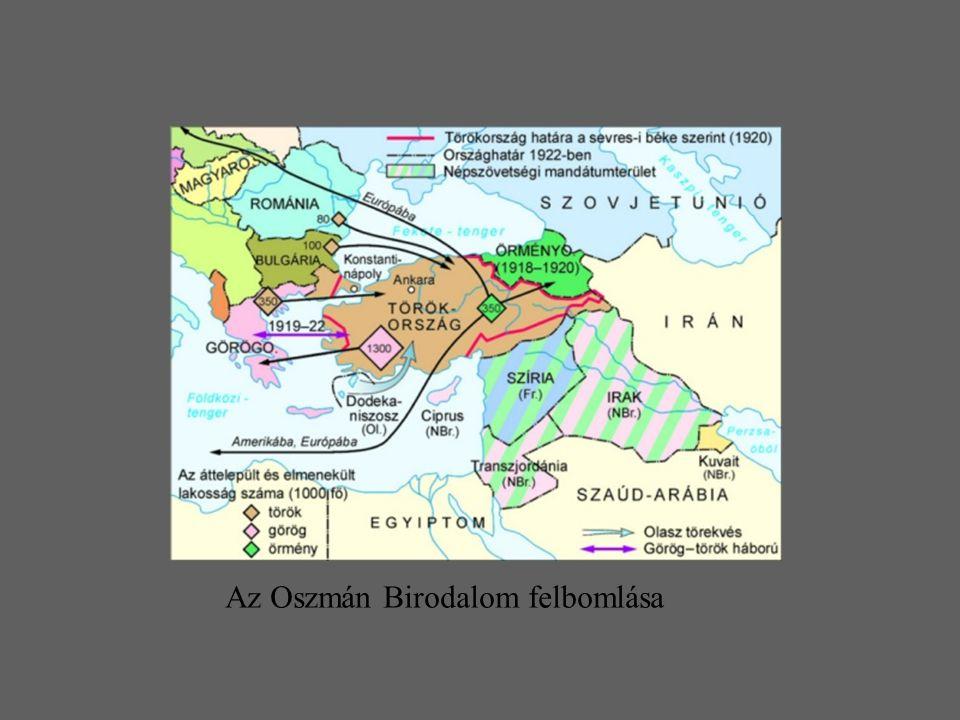 Az Oszmán Birodalom felbomlása