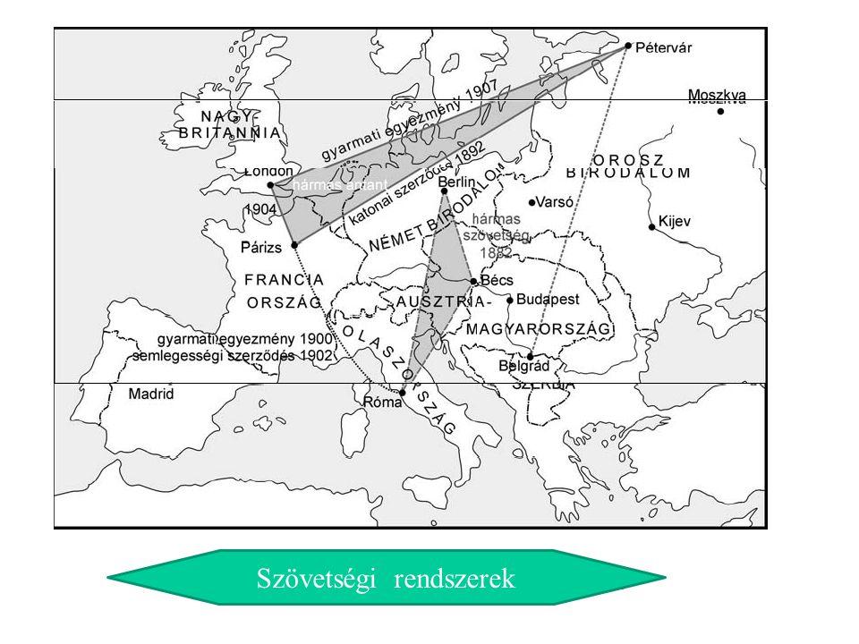 Szövetségi rendszerek Európában Szövetségi rendszerek