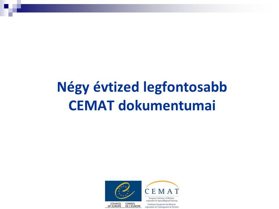 Négy évtized legfontosabb CEMAT dokumentumai