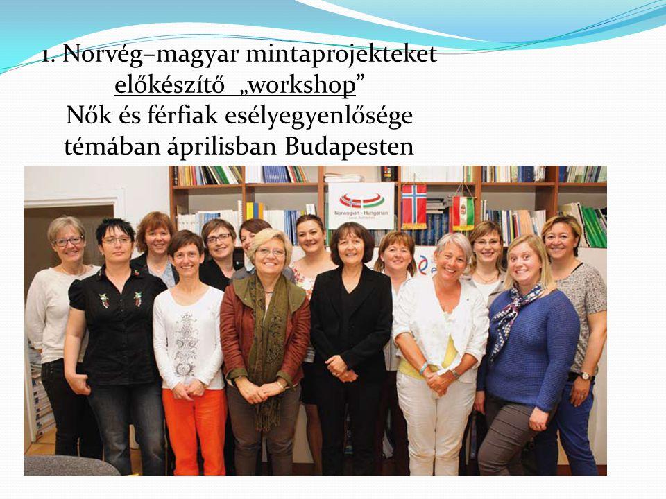 """1. Norvég–magyar mintaprojekteket előkészítő """"workshop"""" Nők és férfiak esélyegyenlősége témában áprilisban Budapesten"""