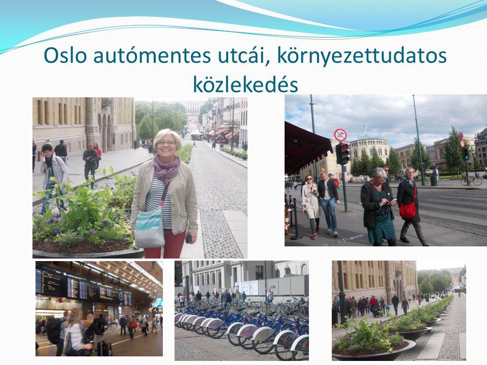 Oslo autómentes utcái, környezettudatos közlekedés