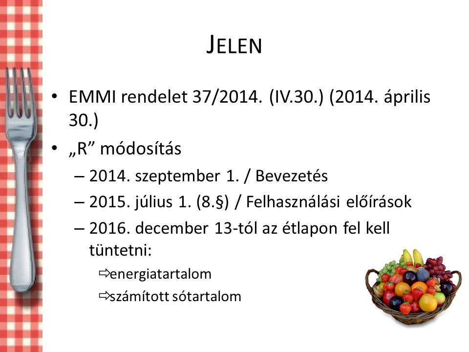 """J ELEN EMMI rendelet 37/2014.(IV.30.) (2014. április 30.) """"R módosítás – 2014."""
