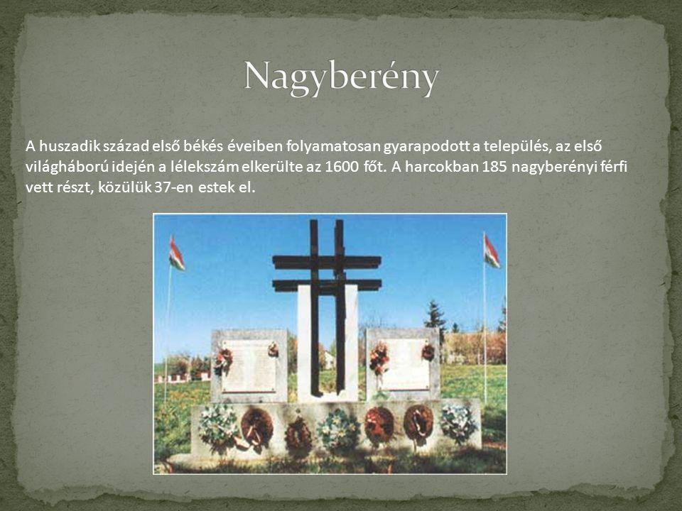 A huszadik század első békés éveiben folyamatosan gyarapodott a település, az első világháború idején a lélekszám elkerülte az 1600 főt. A harcokban 1