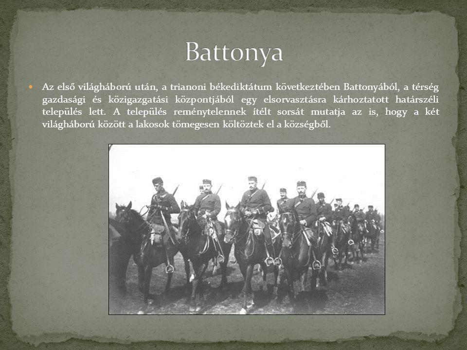 Az első világháború után, a trianoni békediktátum következtében Battonyából, a térség gazdasági és közigazgatási központjából egy elsorvasztásra kárho