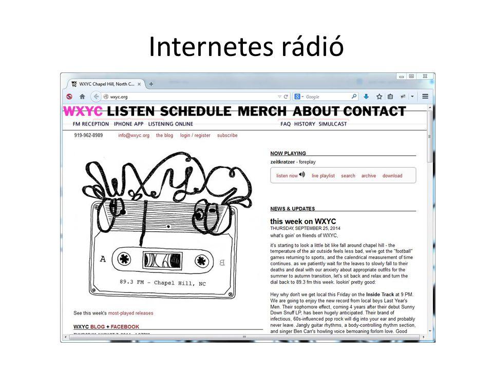Internetes rádió
