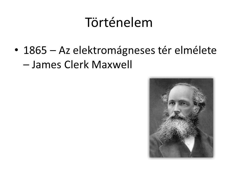 Történelem 1865 – Az elektromágneses tér elmélete – James Clerk Maxwell