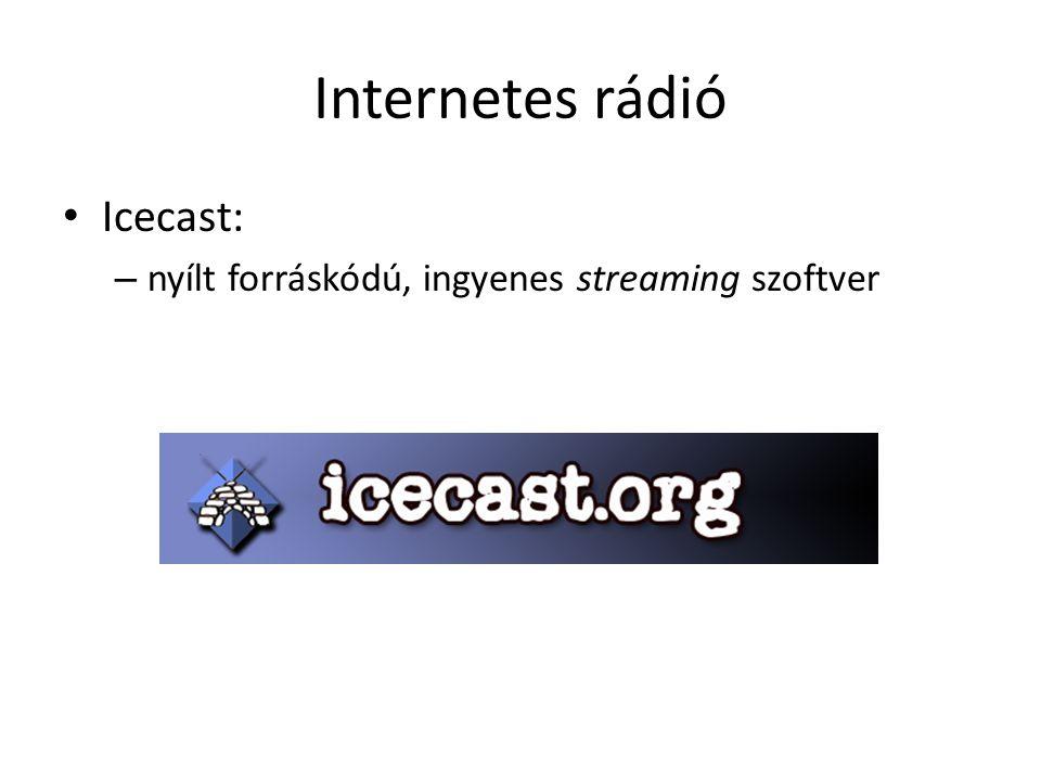 Internetes rádió Icecast: – nyílt forráskódú, ingyenes streaming szoftver