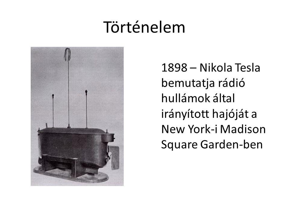 Történelem 1898 – Nikola Tesla bemutatja rádió hullámok által irányított hajóját a New York-i Madison Square Garden-ben