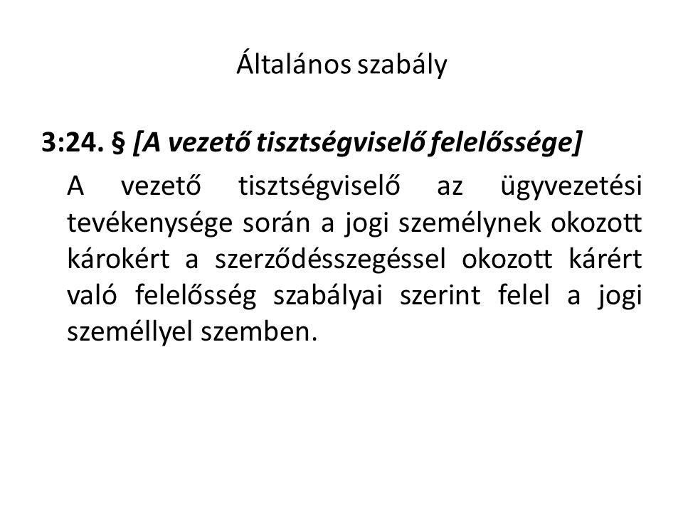 A szerződésszegésért való felelősség általános szabálya 6:142.