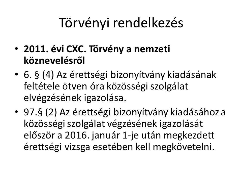 Törvényi rendelkezés 2011. évi CXC. Törvény a nemzeti köznevelésről 6.