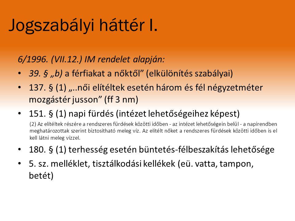 Jogszabályi háttér II.1995. CVII. Tv.