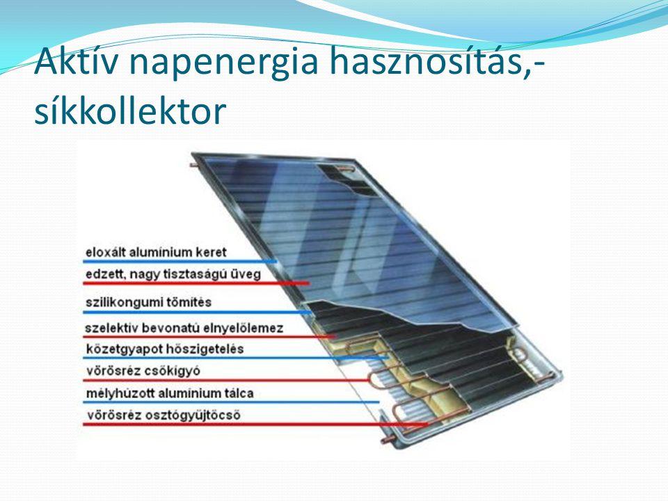 Aktív napenergia hasznosítás,- síkkollektor