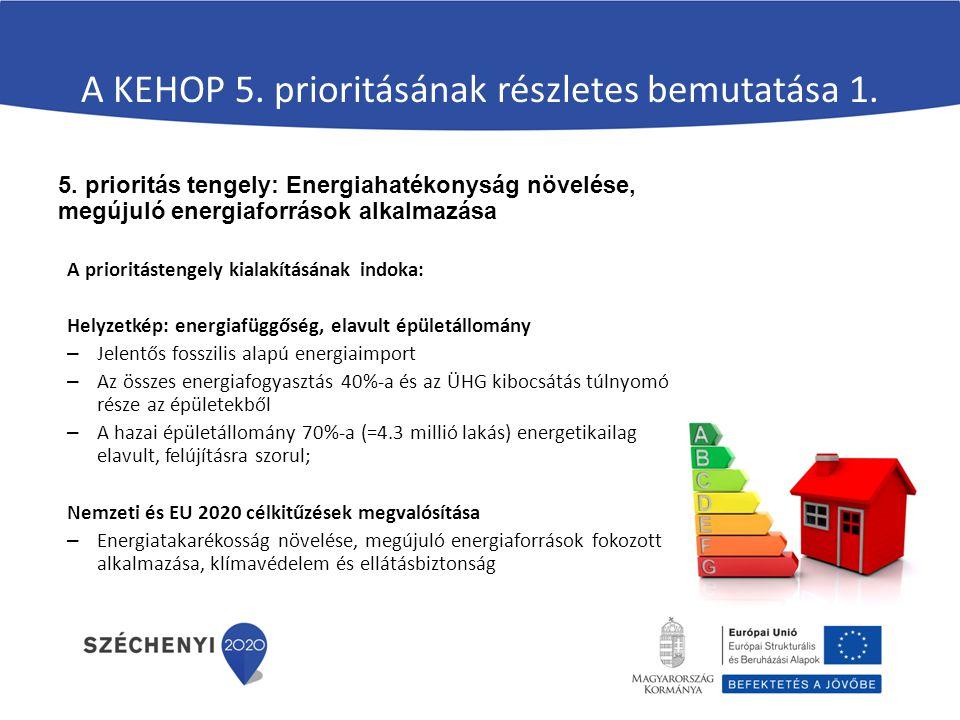 Energetikai fejlesztési irányok más Operatív Programokban VEKOP 3.