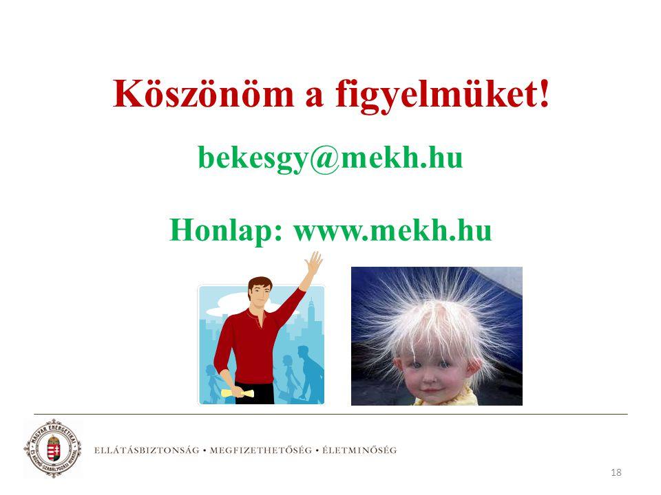 18 Köszönöm a figyelmüket! bekesgy@mekh.hu Honlap: www.mekh.hu