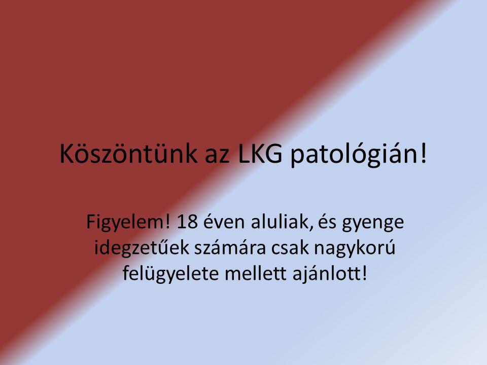 Köszöntünk az LKG patológián.Figyelem.