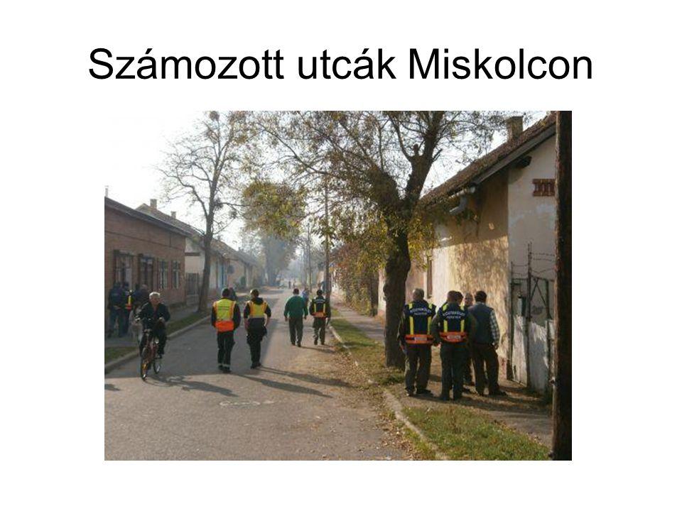 Számozott utcák Miskolcon