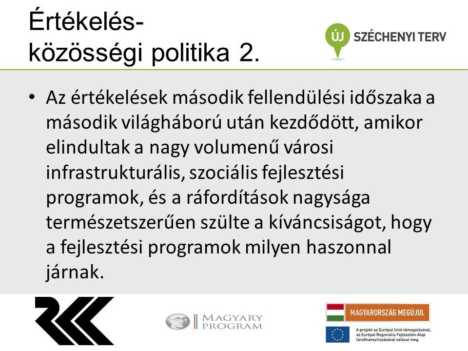 Értékelés- közösségi politika 2.
