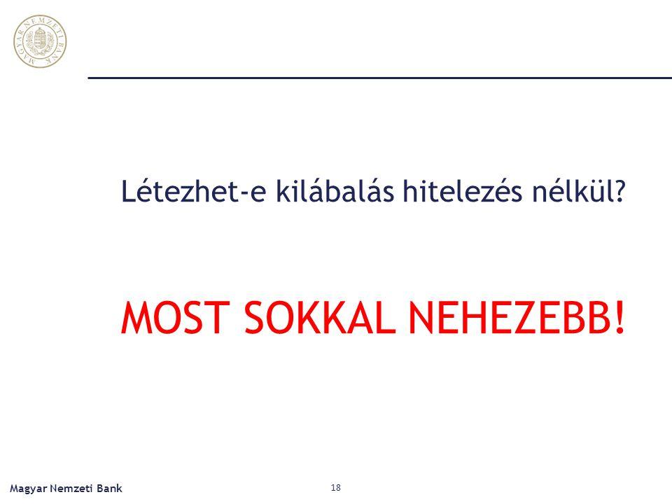 Létezhet-e kilábalás hitelezés nélkül? MOST SOKKAL NEHEZEBB! Magyar Nemzeti Bank 18
