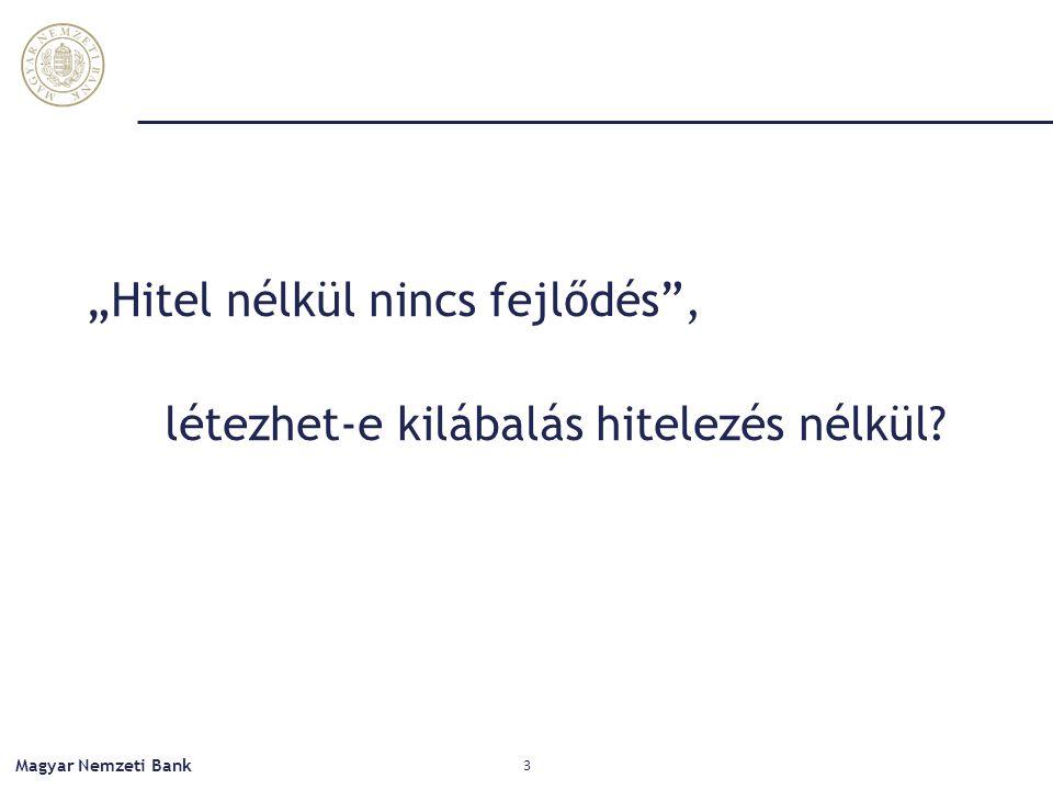 """""""Hitel nélkül nincs fejlődés"""", létezhet-e kilábalás hitelezés nélkül? Magyar Nemzeti Bank 3"""