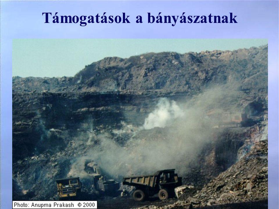 Támogatások a bányászatnak