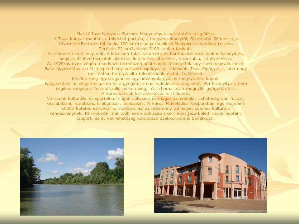 Martfű Jász-Nagykun-Szolnok Megye egyik legfiatalabb települése. A Tisza kanyar mentén, a folyó bal partján, a megyeszékhelytől, Szolnoktól 20 km-re,