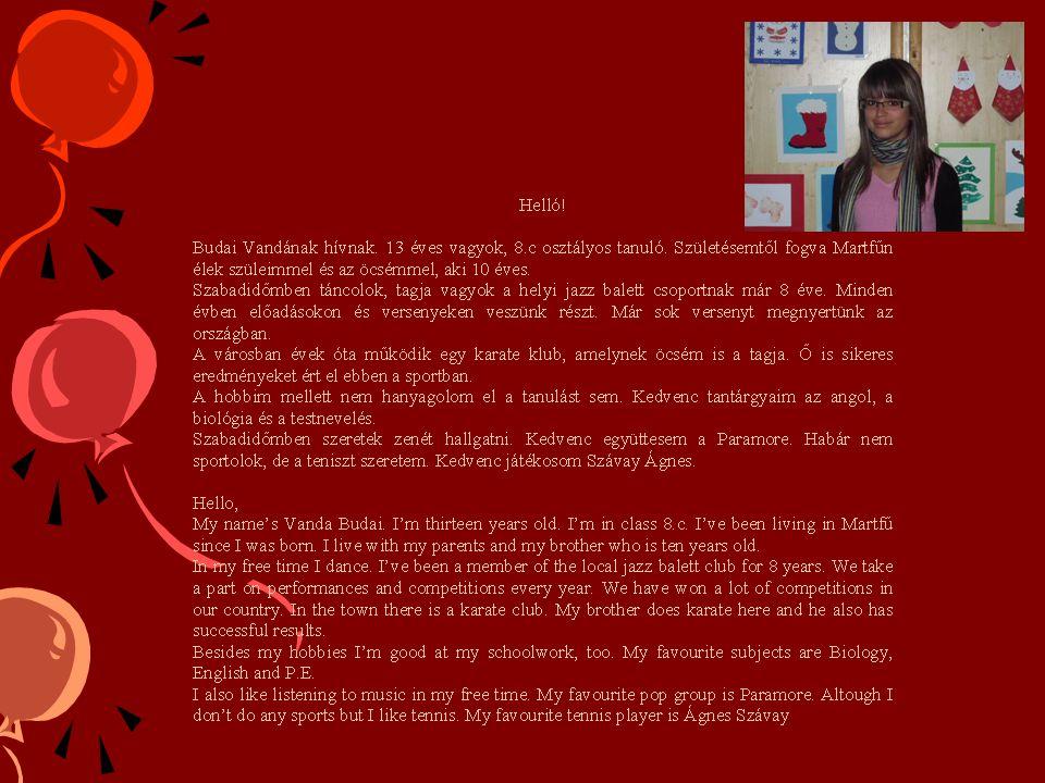 Azén nevem Sike Zsolt.Most 13 éves vagyok és a martfűi 7.c osztályba járok.
