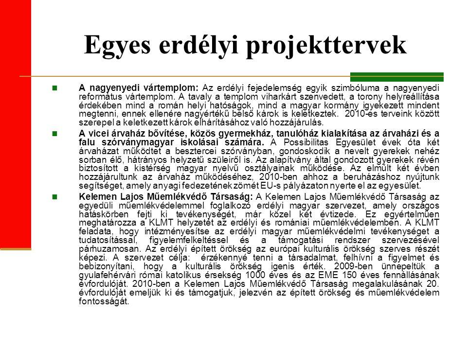 Egyes erdélyi projekttervek A nagyenyedi vártemplom: Az erdélyi fejedelemség egyik szimbóluma a nagyenyedi református vártemplom.