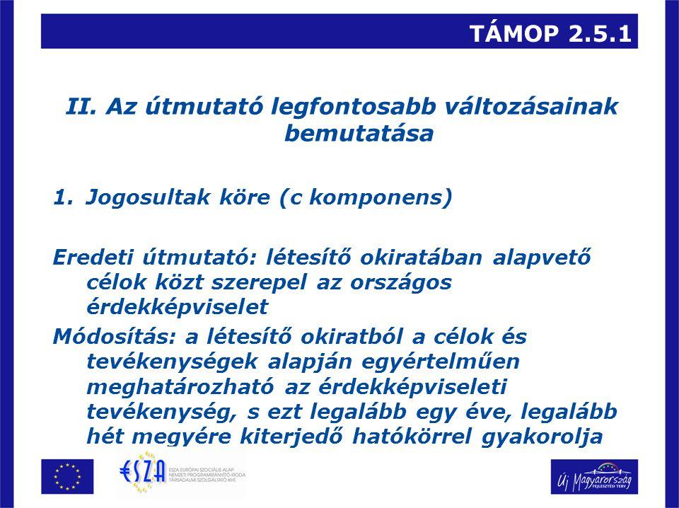 TÁMOP 2.5.1 II.