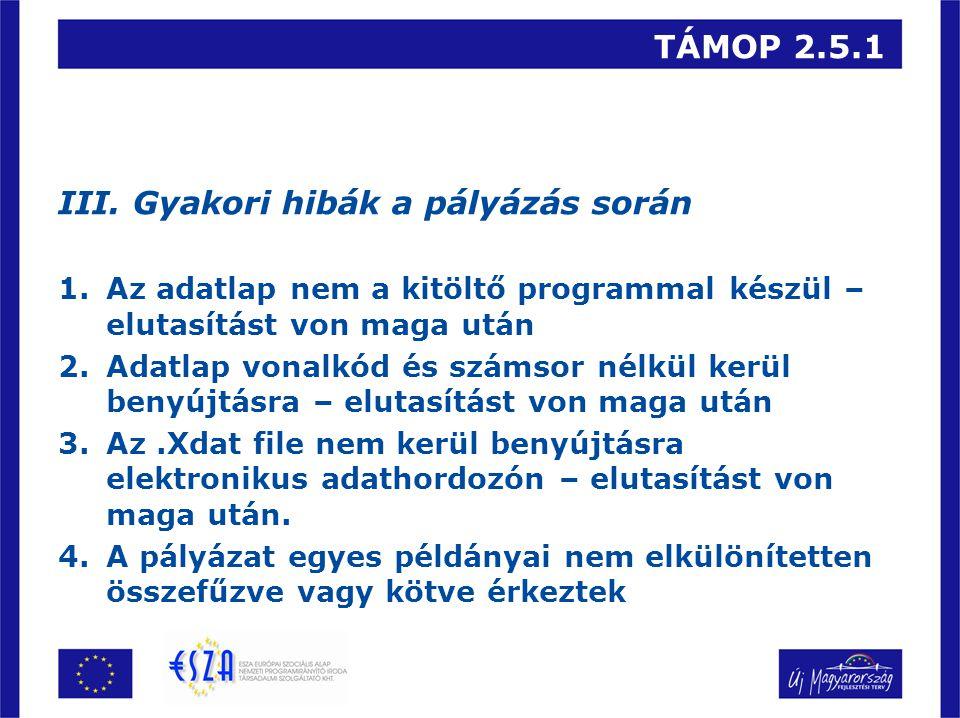 TÁMOP 2.5.1 III.