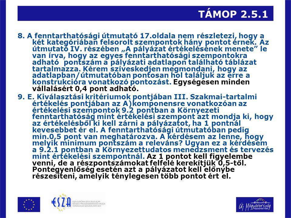 TÁMOP 2.5.1 8.