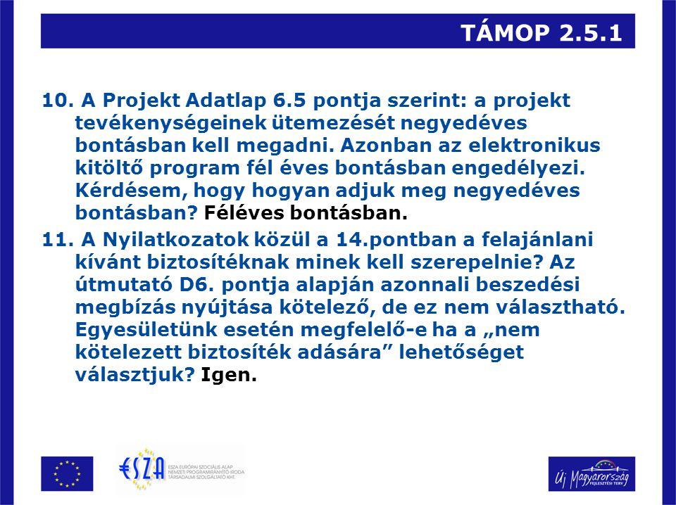 TÁMOP 2.5.1 10.