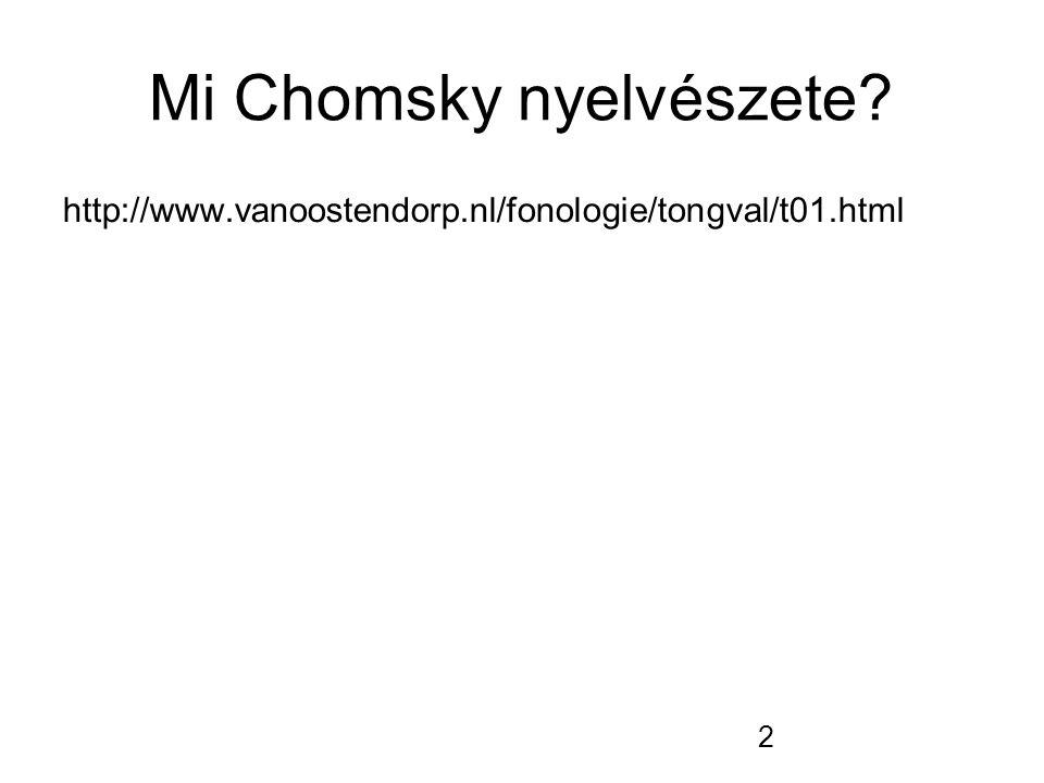 2 Mi Chomsky nyelvészete? http://www.vanoostendorp.nl/fonologie/tongval/t01.html