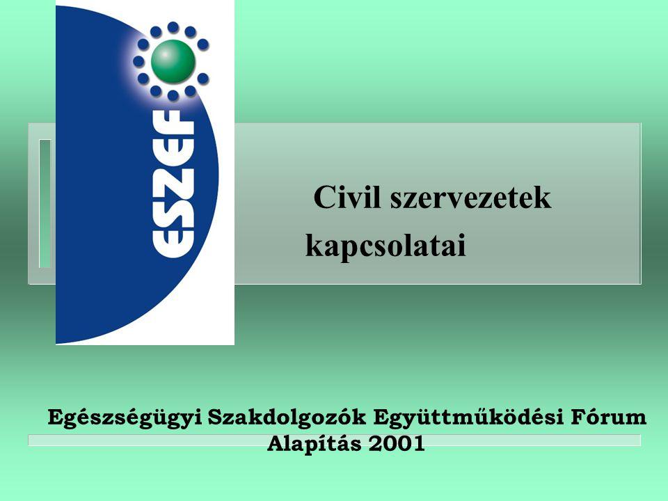 Civil szervezetek kapcsolatai Egészségügyi Szakdolgozók Együttműködési Fórum Alapítás 2001