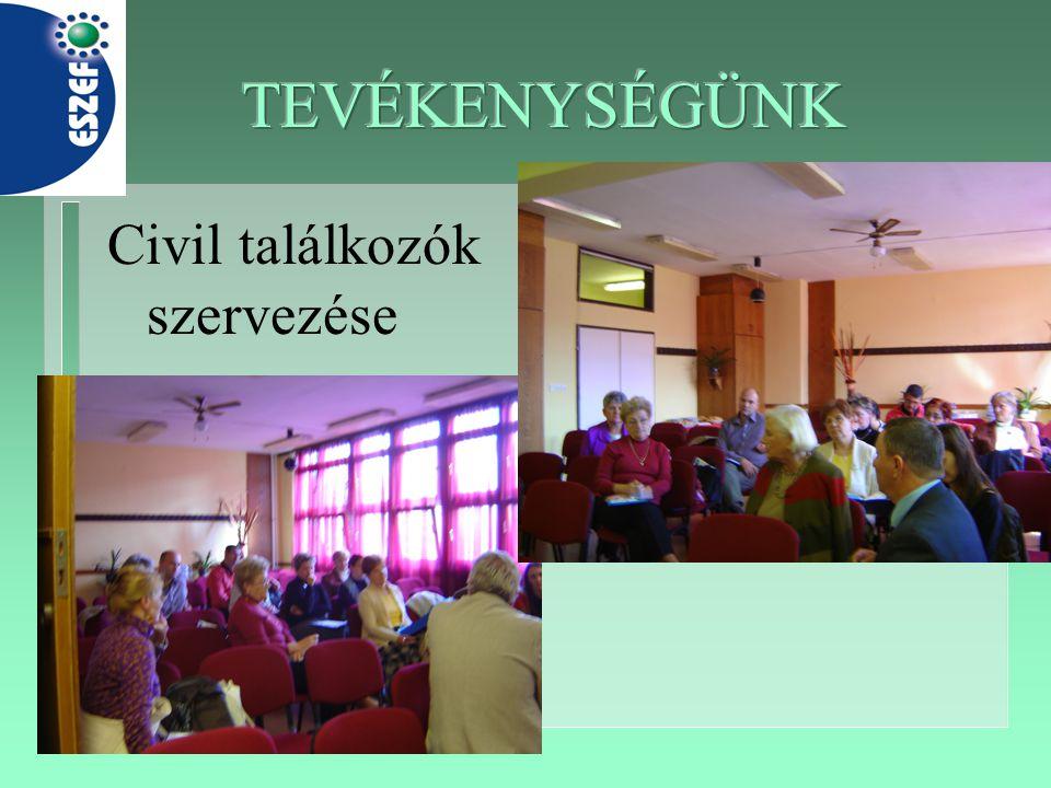 Civil találkozók szervezése