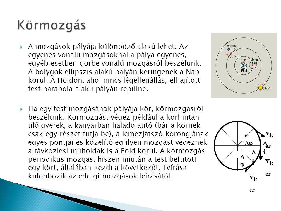  A mozgások pályája különböző alakú lehet.