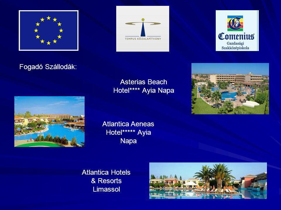 Fogadó Szállodák: Asterias Beach Hotel**** Ayia Napa Atlantica Aeneas Hotel***** Ayia Napa Atlantica Hotels & Resorts Limassol