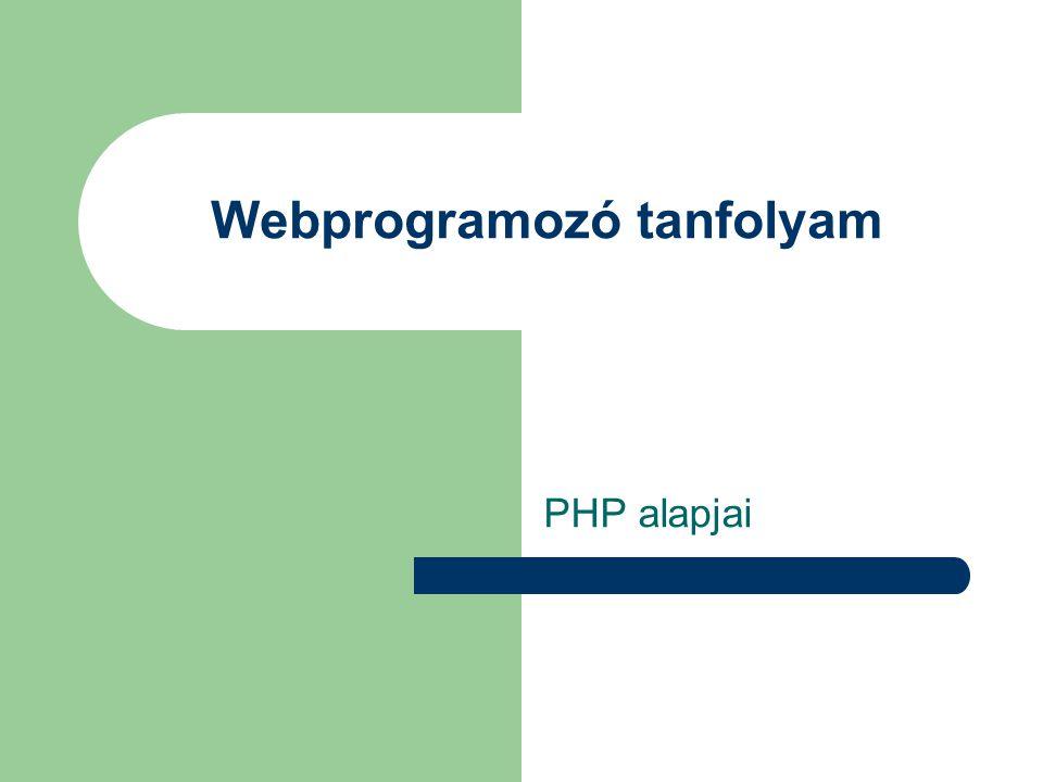 Webprogramozó tanfolyam PHP alapjai