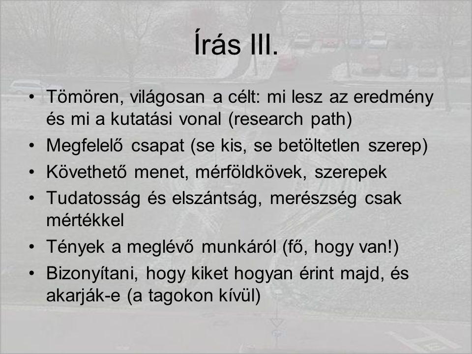 Írás IV.