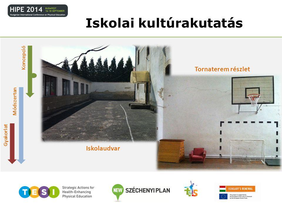 Módszertan Gyakorlat Iskolai kultúrakutatás Iskolaudvar Tornaterem részlet Koncepció