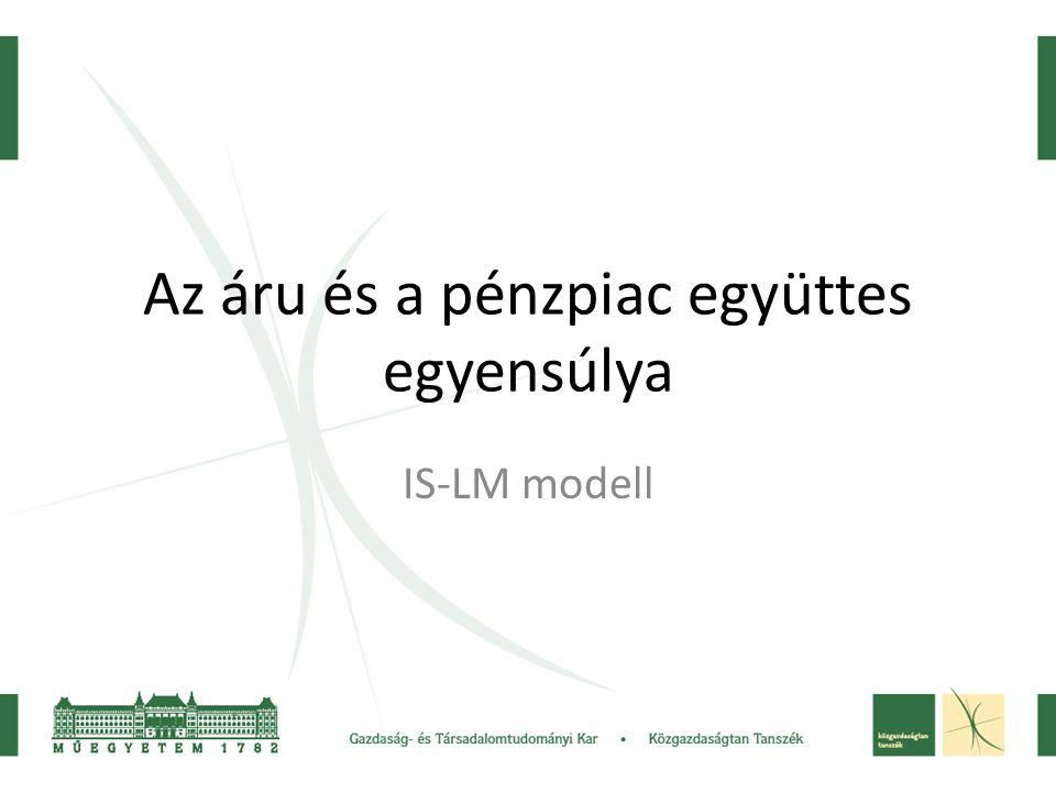 Az áru és a pénzpiac együttes egyensúlya IS-LM modell