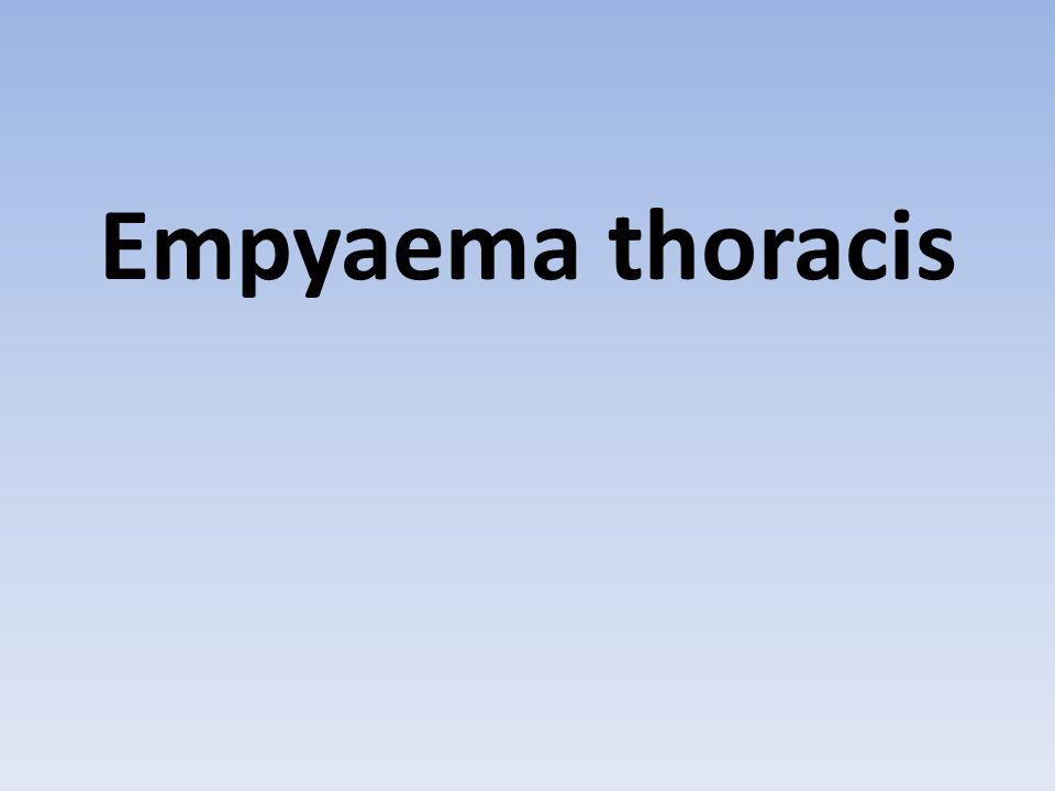 Empyaema thoracis